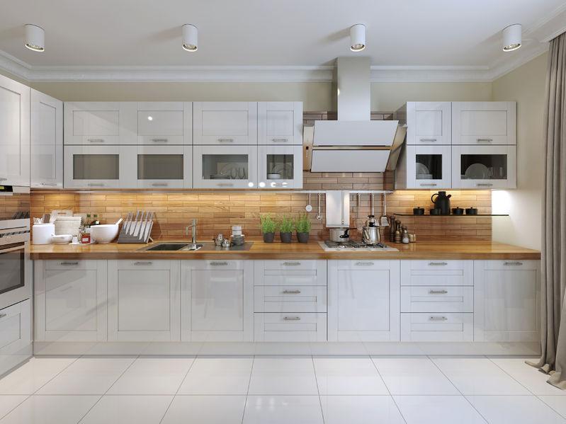 47271413 – contemporary kitchen design. 3d render